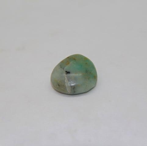 Pedra Opala Verde Rolada 1,5x4cm