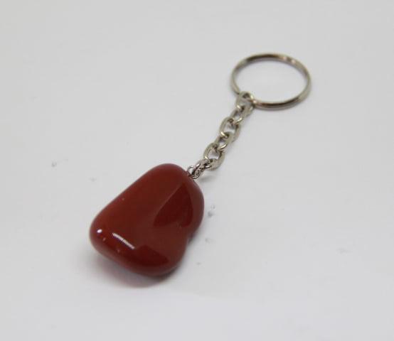 Chaveiro de Pedra Jaspe Vermelho