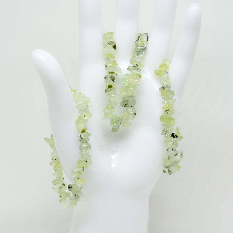 Pulseira de Pedra Prehnita - Helena Cristais