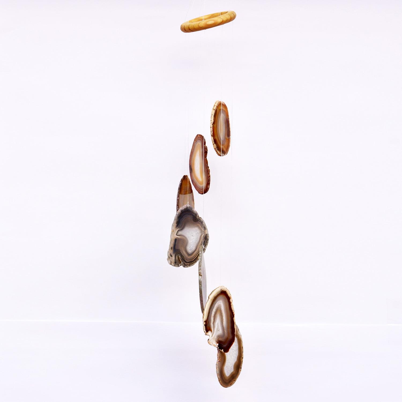 Móbile de Pedra Ágata de Fogo Médio - Helena Cristais