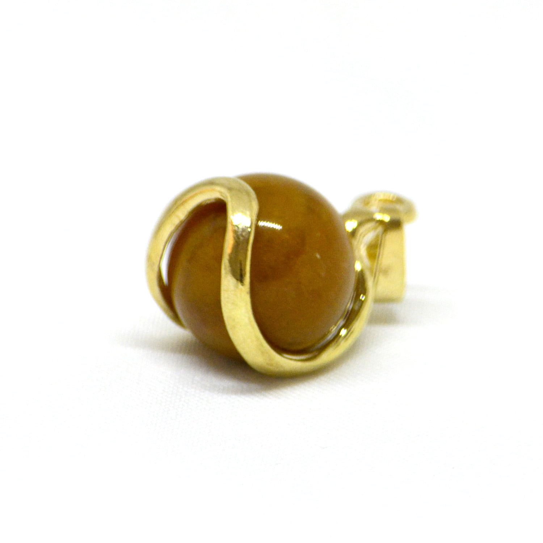 Pingente Esfera de Jaspe Amarelo Dourado - Helena Cristais
