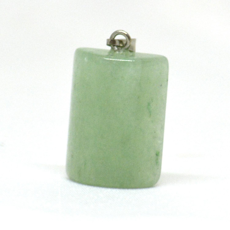 Pingente de Pedra Quartzo Verde Cilindro - Helena Cristais