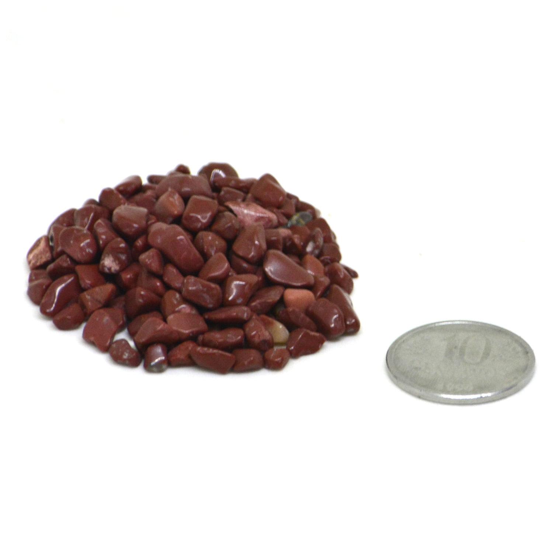 Pacote de Pedra Jaspe Vermelho Cascalho 500g - Helena Cristais