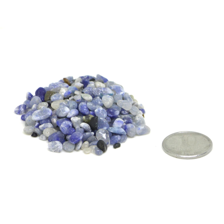 acote de Pedra Quartzo Azul Cascalho 500g - Helena Cristais