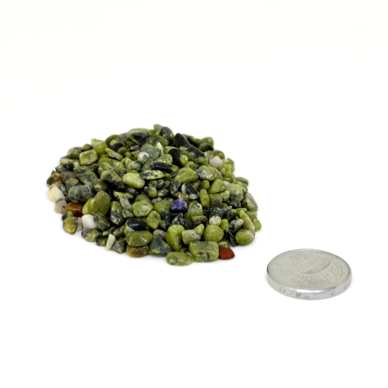 Pacote de Pedra Jade Nefrita Cascalho 100 g - Helena Cristais
