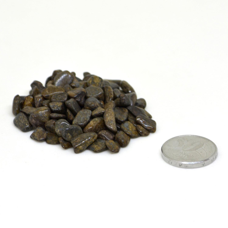 Pacote de Pedra Bronzita Cascalho 100 g - Helena Cristais