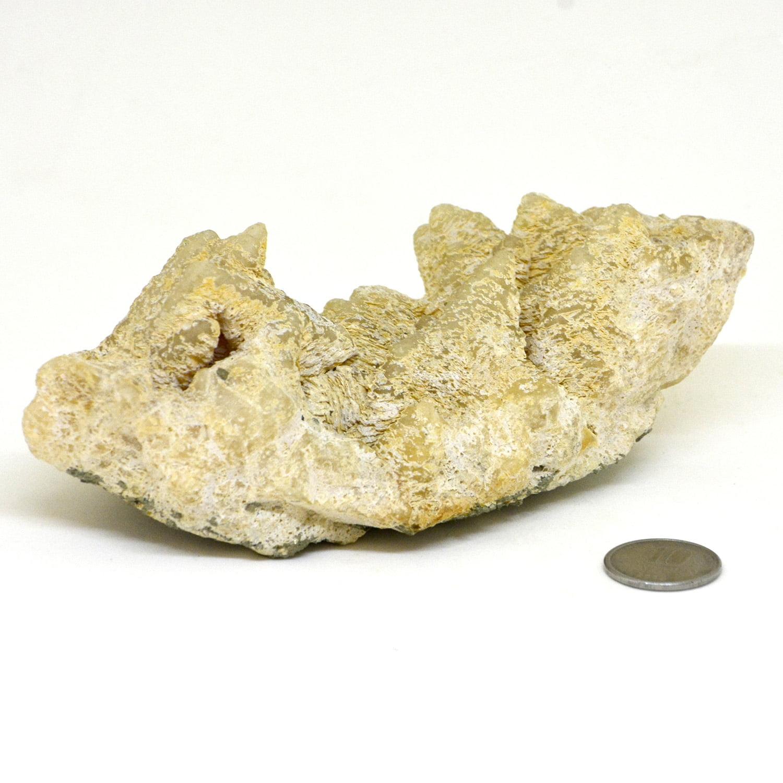 Dolomita Pseudomórfica com Calcita na Base de Pirita 492g - Helena Cristais