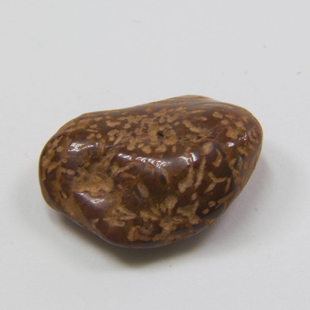 Pedra Jaspe Flor Rolada 2x4cm