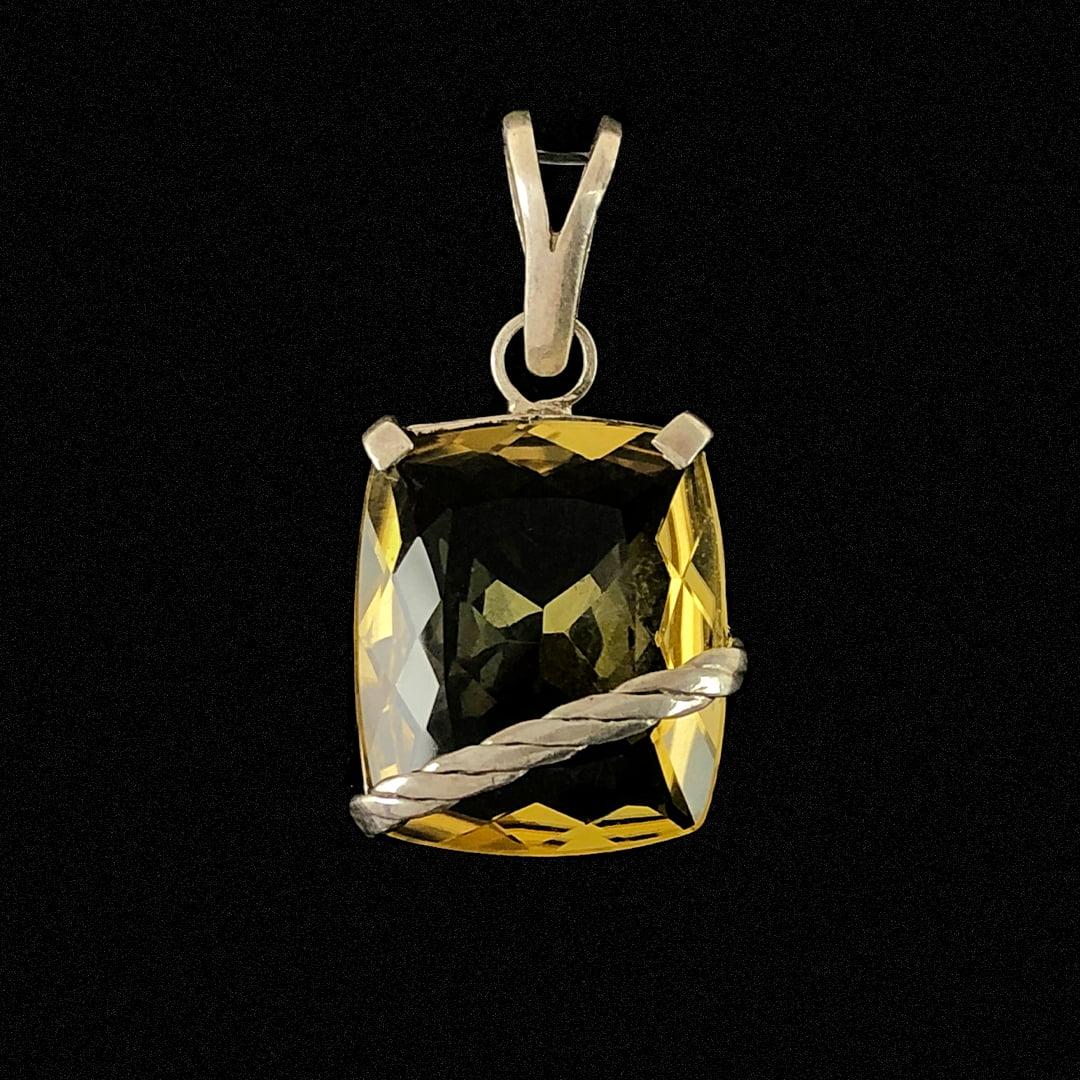 PINGENTE GREEN GOLD DE PRATA 10777