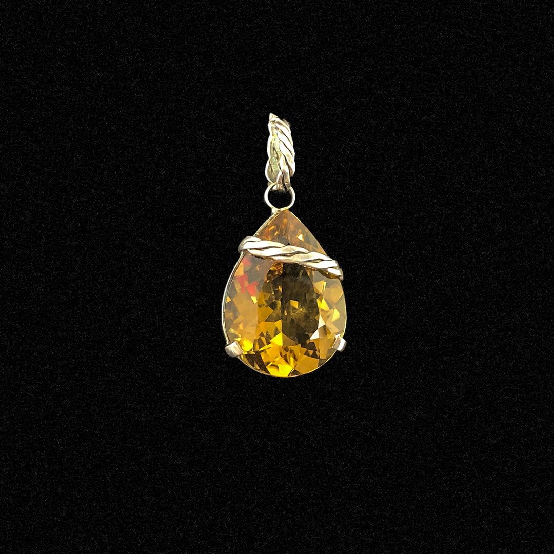 PINGENTE GREEN GOLD DE PRATA 10779