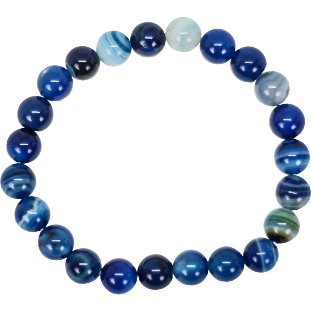 Pulseira de Ágata Azul Esfera