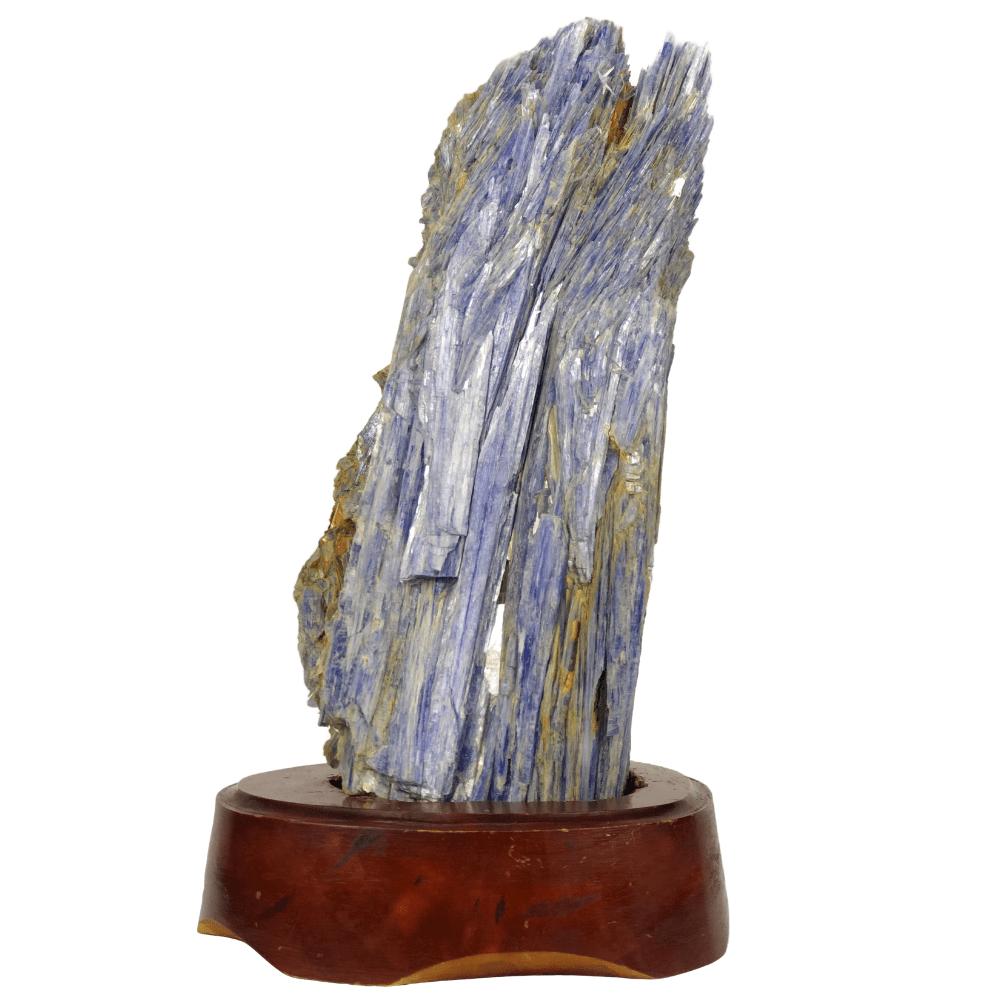 Pedra Cianita Azul Bruta na Base 03