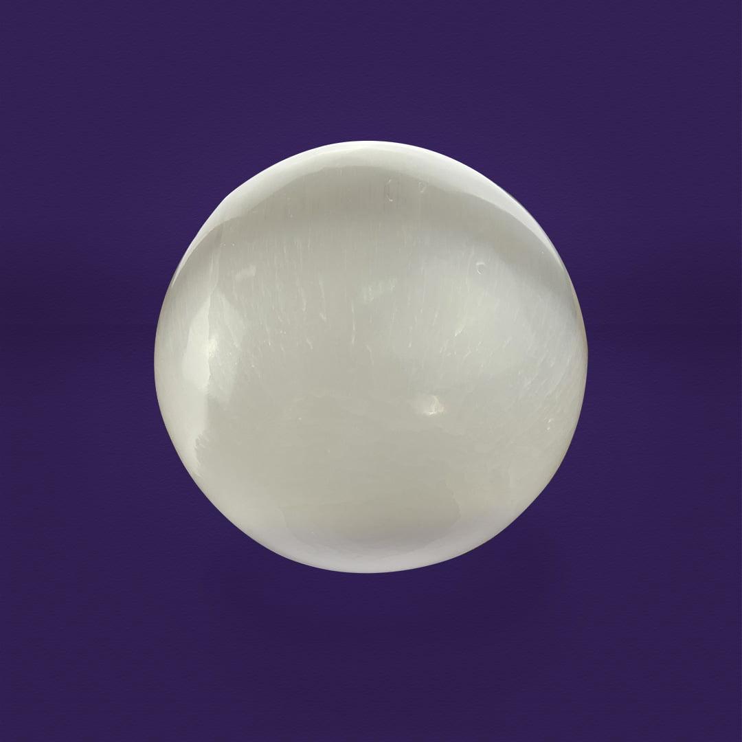 Esfera de Selenita Branca 90466
