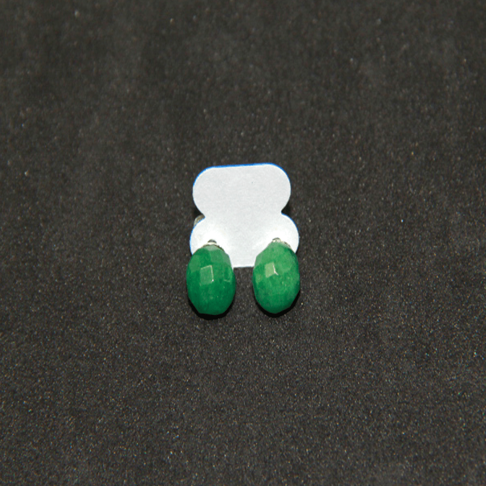 Brinco de Pedra Quartzo Verde Esfera
