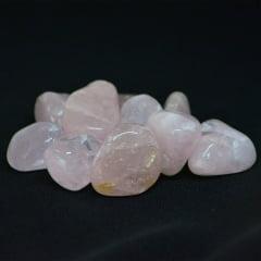 Pacote de Pedra Quartzo Rosa 10 UN - Helena Cristais