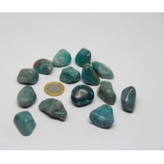 Pedra Crisocola Rolada 3,5x4cm