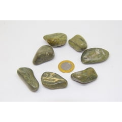 Pedra Jaspe Verde Rolada 3x5cm