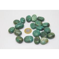 Pedra Turquesa com Furo - Helena Cristais
