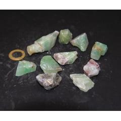 Pedra Calcita Verde Bruta 2,5×3,5cm