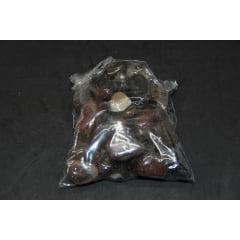 Pacote de Pedra Ágata Marrom 1Kg - Helena Cristais