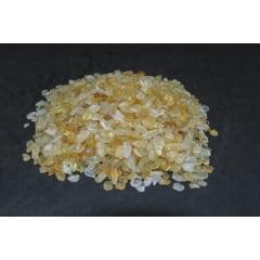 Pacote de Pedra Citrino Rolada 1kg de 0,2 a 1 cm