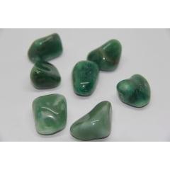 Pedra Quartzo Verde Rolada 4,5 a 5cm