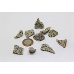 Pedra Jaspe Dálmata Bruta 3,5x4cm - Helena Cristais