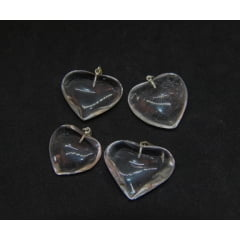 Pingente Coração de Quartzo Cristal