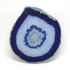 Chapa de Pedra Ágata Azul 13 a 14 cm - Helena Cristais