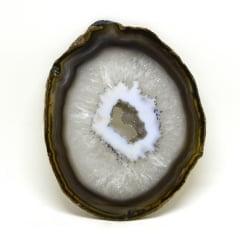 Chapa de Pedra Ágata Marrom 13 a 14 cm