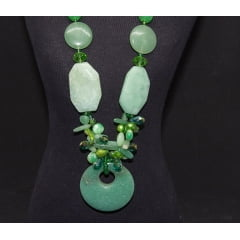 Colar de Pedra Quartzo Verde-4485