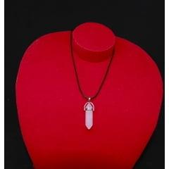 Colar de Pedra Quartzo Rosa Biterminado - Helena Cristais