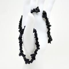 Pulseira de Pedra Obsidiana Preta