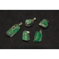 Pingente de Pedra Esmeralda Bruta