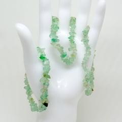 Pulseira de Pedra Fluorita Verde