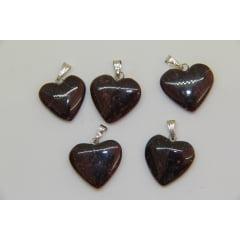 Pingente Coração de Pedra Granada