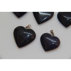 Pingente Coração de Pedra Estrela Azul | Helena Cristais