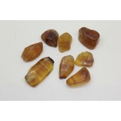 Pedra Fluorita Amarela Rolada