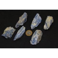 Pedra Cianita Azul Bruta 6x7cm - Helena Cristais