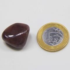 Pedra Quartzo Vermelho Rolada 1,5×2,5cm