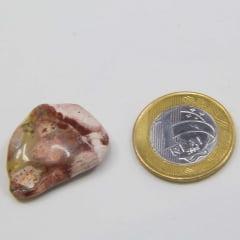 Pedra Jaspe Olho de Pássaro Rolada 2,5x3cm