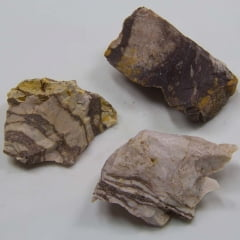 Pedra Jaspe Marrom Listrada 3x4cm