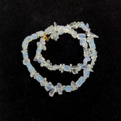 Colar de Pedra Opalina Curto 3302