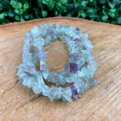 Colar de Pedra Fluorita Arco-Íris Longo