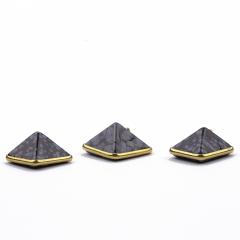 Pingente Pirâmide Obsidiana Floco de Neve