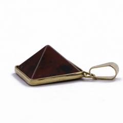 Pingente Pirâmide Obsidiana Tigril