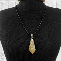 Pingente Ponta de Pedra Citrino 3 cm - Helena Cristais