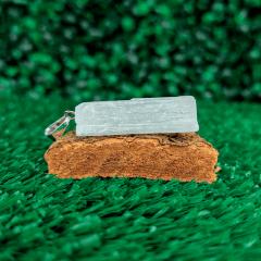 Pingente de Pedra Selenita Branca 2x3cm - 3272