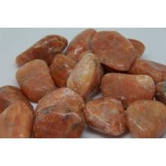 Pedra Calcita Laranja Rolada - Helena Cristais