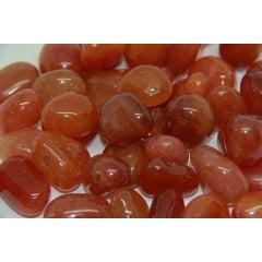 Pacote Pedra Cornalina 1Kg- 2,5 a 3cm